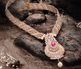 Vogue Crafts & Designs Pvt. Ltd. manufactures and exports diamond and gold jewelry necklaces at wholesale prices