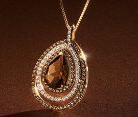 Vogue Crafts & Designs Pvt. Ltd. manufactures and exports diamond and gold jewelry pendants at wholesale prices