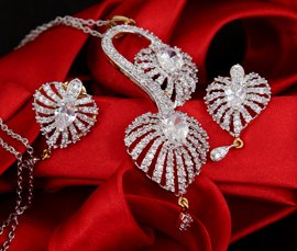 Vogue Crafts & Designs Pvt. Ltd. manufactures and exports imitation jewelry pendants at wholesale prices