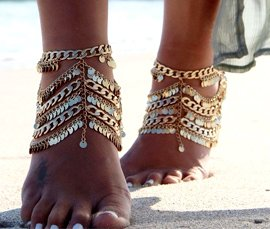 Vogue Crafts & Designs Pvt. Ltd. manufactures and exports metal jewelry anklets at wholesale prices