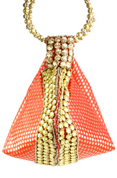 Orange Beadwork Potli Bag