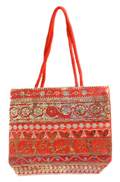 Embroidered Red Bag