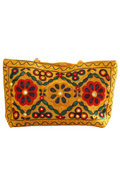 Vogue Crafts and Designs Pvt. Ltd. manufactures Mustard Yellow Bag at wholesale price.