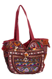 Vogue Crafts and Designs Pvt. Ltd. manufactures Kantha Work Bag at wholesale price.