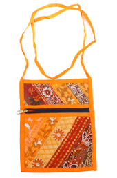 Vogue Crafts and Designs Pvt. Ltd. manufactures Yellow Cross Body Bag at wholesale price.