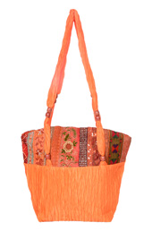 Vogue Crafts and Designs Pvt. Ltd. manufactures Crinkled Satin Bag at wholesale price.