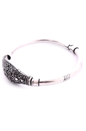 Vogue Crafts and Designs Pvt. Ltd. manufactures Oval German Silver Bangle at wholesale price.