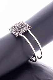 Vogue Crafts and Designs Pvt. Ltd. manufactures Square Shaped German Silver Bangle at wholesale price.