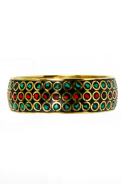 Vogue Crafts and Designs Pvt. Ltd. manufactures Red in the Center Metal Bangle at wholesale price.