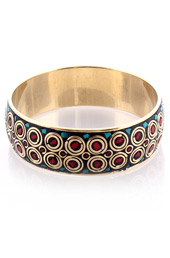 Vogue Crafts and Designs Pvt. Ltd. manufactures Stone in Metal Circles Bangle at wholesale price.