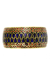 Vogue Crafts and Designs Pvt. Ltd. manufactures Dual Color Stones Bangle at wholesale price.