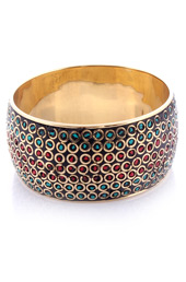 Vogue Crafts and Designs Pvt. Ltd. manufactures Broad Metal Multi-color Bangle at wholesale price.