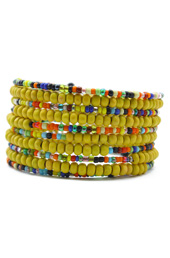Vogue Crafts and Designs Pvt. Ltd. manufactures Vibrant Yellow Bracelet at wholesale price.