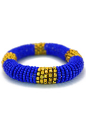 Vogue Crafts and Designs Pvt. Ltd. manufactures Blue Coiled Bracelet at wholesale price.