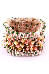 Vogue Crafts and Designs Pvt. Ltd. manufactures Bunch of Pastels Bracelet at wholesale price.