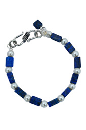 Vogue Crafts and Designs Pvt. Ltd. manufactures Lapis Blocks Bracelet at wholesale price.