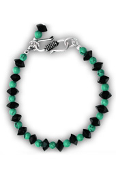 Vogue Crafts and Designs Pvt. Ltd. manufactures Turquoise and Crystal Bracelet at wholesale price.