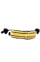 Vogue Crafts and Designs Pvt. Ltd. manufactures Yellow in Black Bracelet at wholesale price.