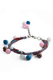 Vogue Crafts and Designs Pvt. Ltd. manufactures Woven Threads and Beads Bracelet at wholesale price.