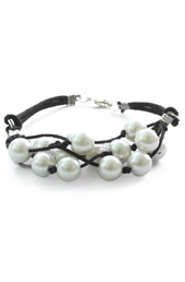 Vogue Crafts and Designs Pvt. Ltd. manufactures Pearls and Thread Bracelet at wholesale price.