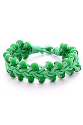 Vogue Crafts and Designs Pvt. Ltd. manufactures Woven Green Bracelet at wholesale price.
