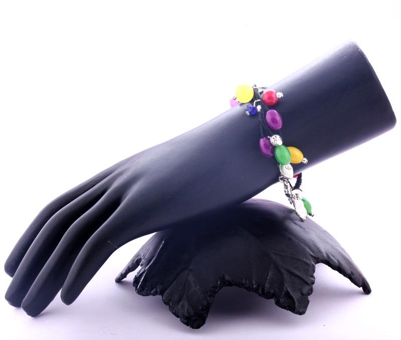 Vogue Crafts & Designs Pvt. Ltd. manufactures Multicolor Glass Drops Bracelet at wholesale price.