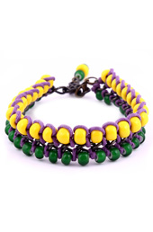 Vogue Crafts and Designs Pvt. Ltd. manufactures Rows of Yellow and Green Bracelet at wholesale price.