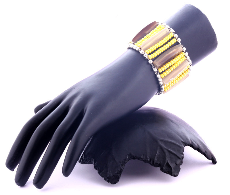 Vogue Crafts & Designs Pvt. Ltd. manufactures Horn Sticks and Yellow Bracelet at wholesale price.