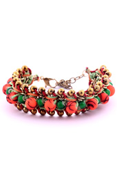 Vogue Crafts and Designs Pvt. Ltd. manufactures Neon Orange and Green Bracelet at wholesale price.