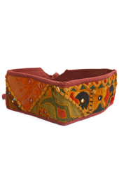 Vogue Crafts and Designs Pvt. Ltd. manufactures Maroon with Golden Work Belt at wholesale price.