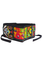 Vogue Crafts and Designs Pvt. Ltd. manufactures Floral Embroidery Belt at wholesale price.