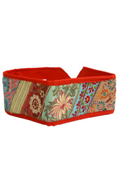 Vogue Crafts and Designs Pvt. Ltd. manufactures Multicolor Patchwork Belt at wholesale price.