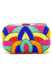 Vogue Crafts and Designs Pvt. Ltd. manufactures Beads and Colors Clutch at wholesale price.