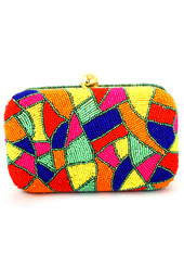 Colors and Beads Clutch