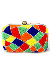 Vogue Crafts and Designs Pvt. Ltd. manufactures Happy Colors Box Clutch at wholesale price.
