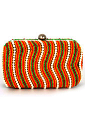 Colorful Waves Box Clutch