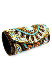 Vogue Crafts and Designs Pvt. Ltd. manufactures Beads and Flowers Clutch at wholesale price.