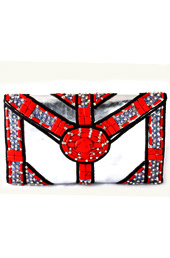 Vogue Crafts and Designs Pvt. Ltd. manufactures Dose of Red Envelope Clutch at wholesale price.