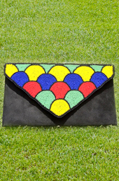 Vogue Crafts and Designs Pvt. Ltd. manufactures Multi-colored Beads Clutch at wholesale price.