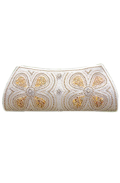 Vogue Crafts and Designs Pvt. Ltd. manufactures The Gold Flower Clutch at wholesale price.