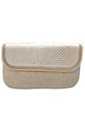 Vogue Crafts and Designs Pvt. Ltd. manufactures The White Envelope Clutch at wholesale price.