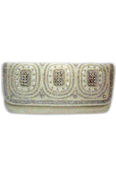 Vogue Crafts and Designs Pvt. Ltd. manufactures The White Glory Clutch at wholesale price.