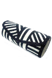 Vogue Crafts and Designs Pvt. Ltd. manufactures The Monochrome Clutch at wholesale price.