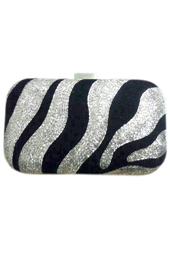 Vogue Crafts and Designs Pvt. Ltd. manufactures The Zebra Print Clutch at wholesale price.