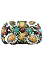 Vogue Crafts and Designs Pvt. Ltd. manufactures The Earthy-Stoned Clutch at wholesale price.