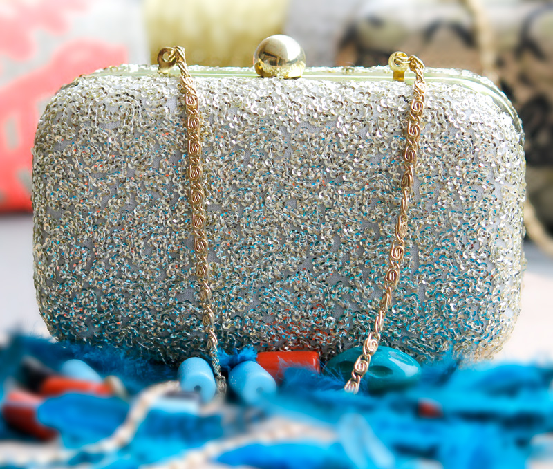 Vogue Crafts & Designs Pvt. Ltd. manufactures Sequined Box Clutch at wholesale price.