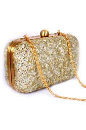 Vogue Crafts and Designs Pvt. Ltd. manufactures Sequined Box Clutch at wholesale price.