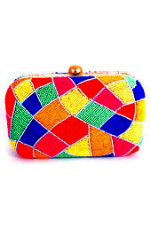 Vogue Crafts and Designs Pvt. Ltd. manufactures Colors of Love Box Clutch at wholesale price.