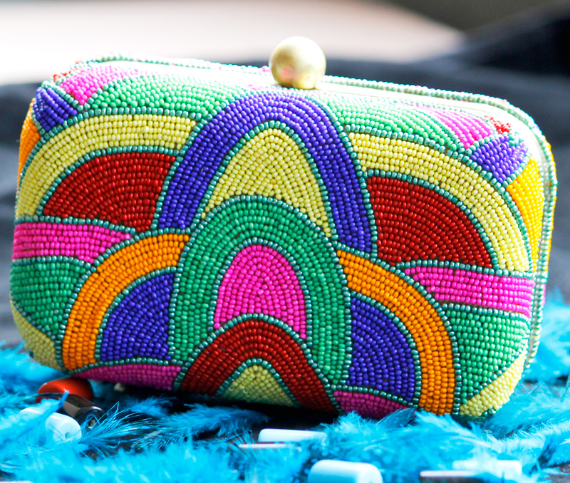 Vogue Crafts & Designs Pvt. Ltd. manufactures Beaded Pattern Box Clutch at wholesale price.