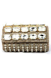 Vogue Crafts and Designs Pvt. Ltd. manufactures Sparkler Box Clutch at wholesale price.